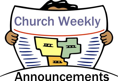 Upcoming Wedding Announcement by Weekly Church Announcement Clipart