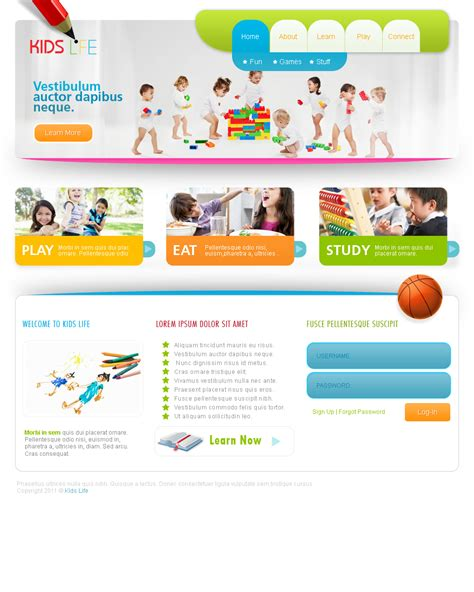 website templates for youth ministry web templates kids by netspy9286 on deviantart