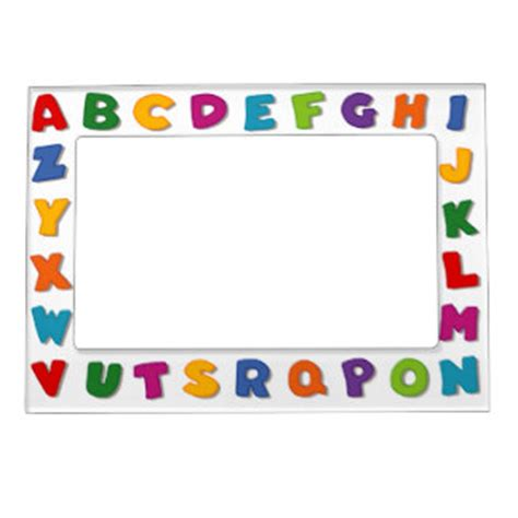 printable alphabet letters to frame letter magnetic picture frames zazzle