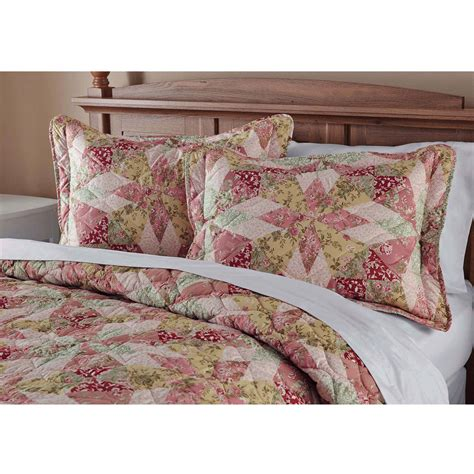 Vintage Quilt Bedding mainstays antique garden bedding quilt at home territory