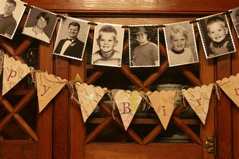 Table Decorations For Male Birthday Diy Photo Banner Think Crafts By Createforless