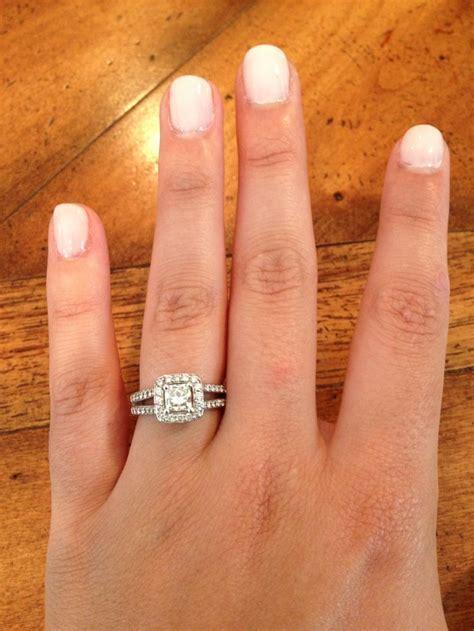 Perfect engagement ring and wedding day nail polish color