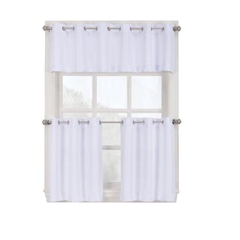grommet kitchen curtains green blinds window treatments the home depot