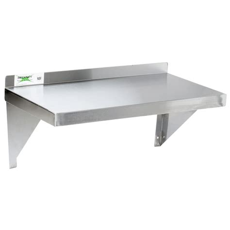 regency 18 stainless steel 12 quot x 24 quot solid wall shelf