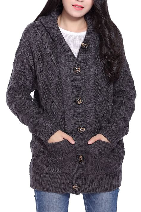 Hooded Cardigan cable knit hooded cardigan aztec sweater dress