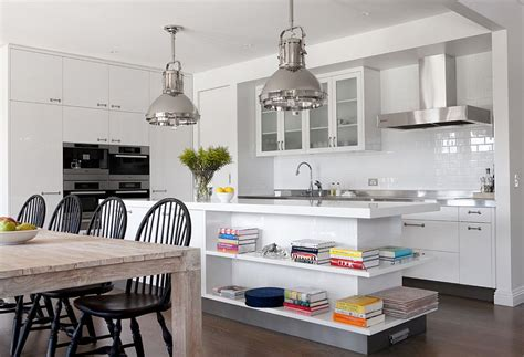 Industrial Style Island Lighting Modern Kitchen With Industrial Style Lighting And White
