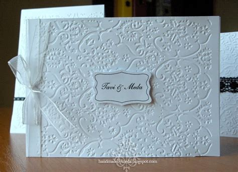 Printed Wedding Invitations Velum by Handmade By Meda Simple Black And White Wedding