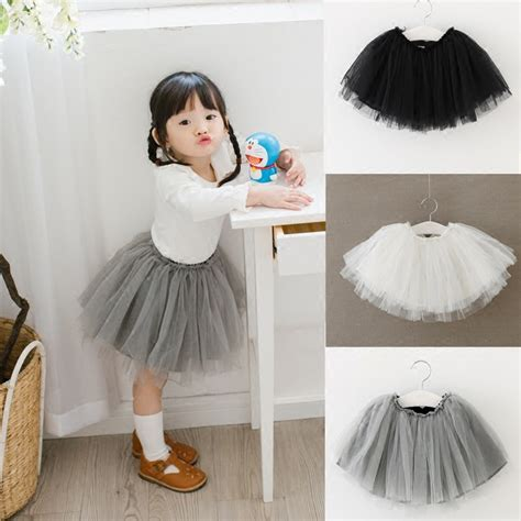 Diskon Rok Tutu 3 Warna 1 3y tutu skirt baby skirt with tulle knee length toddler tutu skirts