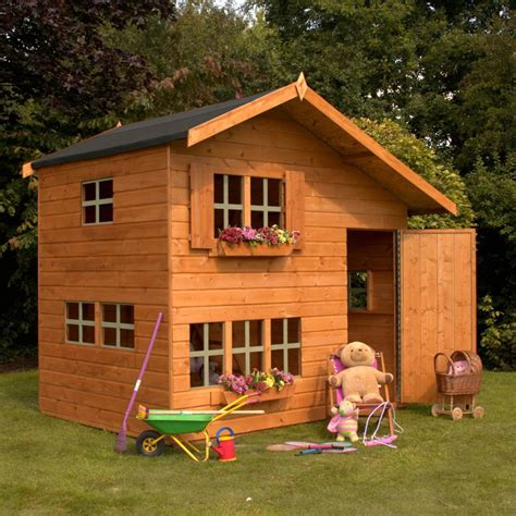 mercia 8 x 6 double storey bramble cottage wooden