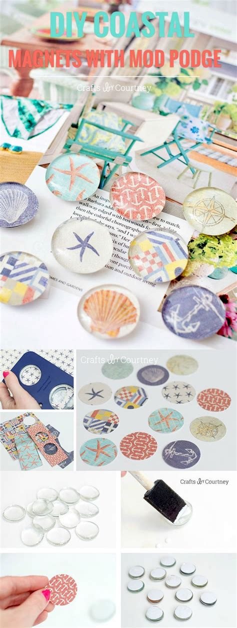 How To Make Decoupage Medium - these diy magnets are so easy to make with decoupage