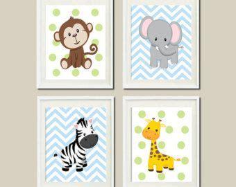 kinderzimmer bilder tiere jungle animals nursery zoo wall decor giraffe zebra