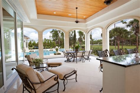 archways and raised ceilings features to put your 55 luxurious covered patio ideas pictures