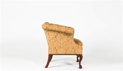 Gold Wing Back Chairs by Gold Damask Fabric Wing Back Club Chair Chr004651