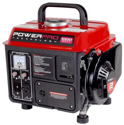 1000 watt 2 hp 2 sroke portable gas powered generator