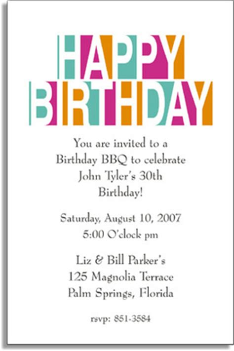 Invitation Letter Exle For Birthday Invitations Any Celebration General Theme Invitations Happy Birthday Letters