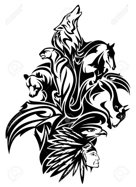 tribal indian tattoo designs american indian clipart black and white