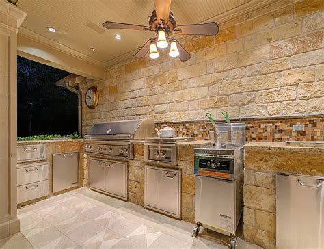 kitchen backsplash with patio doors beautiful outdoor kitchen ideas for summer quiet corner