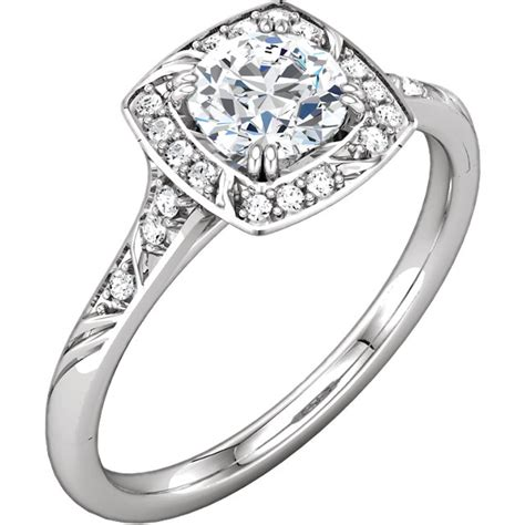 Home Design Story Gems by Round Brilliant Cut Halo Micropav 233 Diamond Engagement Ring