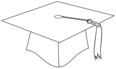 free craft templates for graduation cards graduation clipart outline pencil and in color