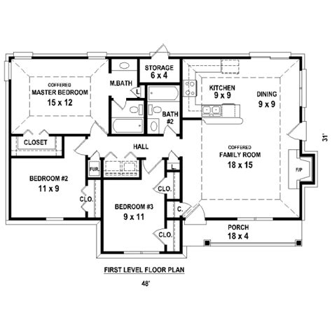 3 bedroom house plans no garage ranch style house plan 3 beds 2 baths 1227 sq ft plan
