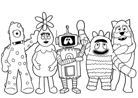 Yo Gabba Gabba Coloring Page yo gabba gabba coloring pages coloring pages to print