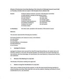 board meeting minutes template committee meeting minutes templates 11 free sle