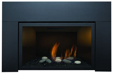 glass rock fireplace gas insert direct vent the abbot 36in by flames