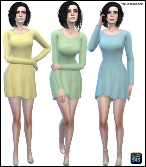 dresses sims 4 download long sleeve little dresses simista a little sims 4 site