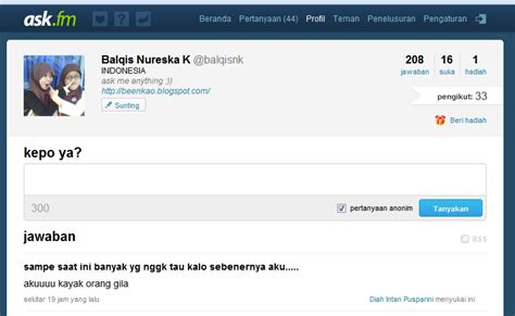 ask fm balqis agis good smile good life ask fm dan singkatan super gaul nya