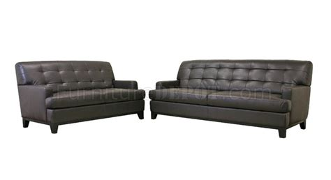 Leather Sofa Wholesale Adair Sofa Set In Brown Bonded Leather By Wholesale Interiors