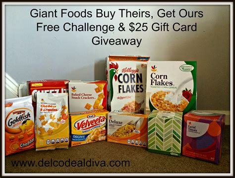 Giant Food Stores Gift Cards - giant food stores buy theirs get ours free challenge returns and a 25 gift card giveaway