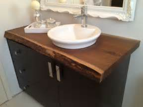 hand made live edge black walnut bathroom countertop by bois design custommade com
