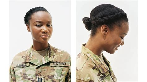 female military hairstyles vogue profiles women who are natural in the military