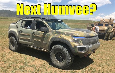Is the Chevy Colorado ZH2 the new Humvee? We Go For a Ride! (Video) The Fast Lane Truck