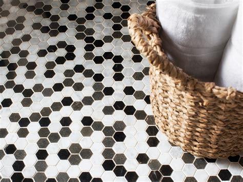 bathroom hexagon floor tile photos hgtv
