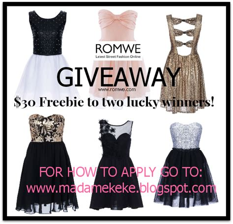 Romwe Gift Card - closed romwe giveaway two can win a 30 gift card madame keke the luxury