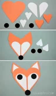 simple craft fox craft fox made of shapes