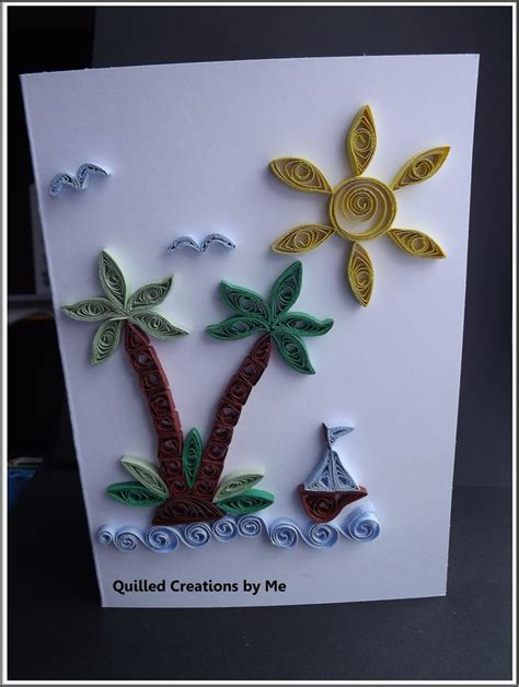 Greeting Card Using Quilling Paper - quilled greeting card quilling