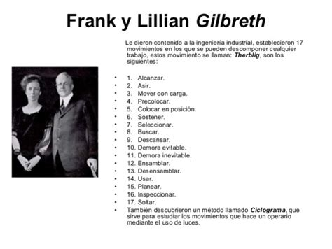 biografia de frank b gilbreth escuelas y enfoques de la administracion timeline