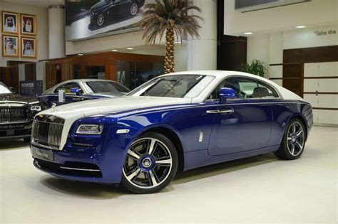 roll royce blue blue and white rolls royce wraith is bespoke to its core