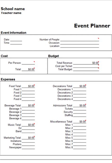 event management plan template microsoft excel event planner template office templates