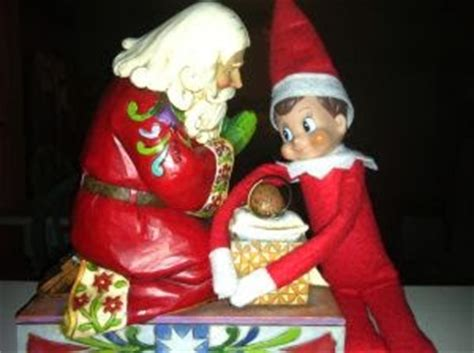 Santa With On The Shelf by Incarnation God On The Shelf And Santa