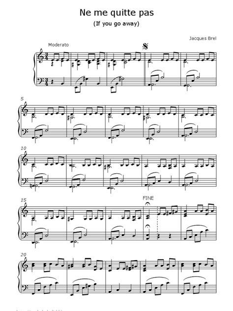 tutorial piano ne me quitte pas ne me quitte pas piano jacques brel