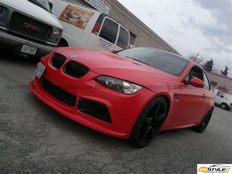 matte red bmw matte red bmw m3 becomes red devil at restyle it