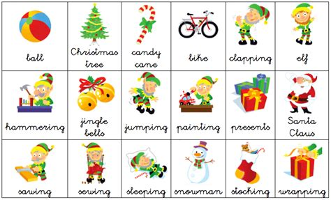 christmas decorations flashcards let s go picture vocabulary