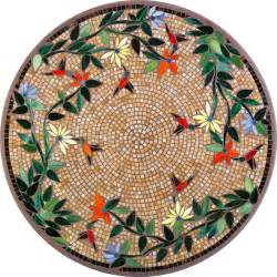 Mosaic Patio Tables Neille Knf Knf Caramel Hummingbird Mosaic Table