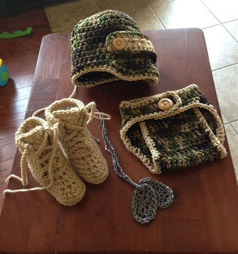 crochet pattern army hat crochet army newborn through 12 mos hat by