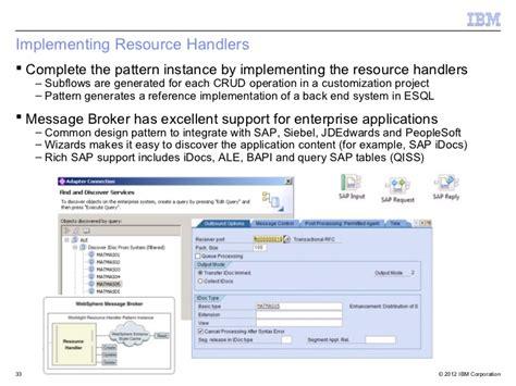 pattern explorer in message broker mobile patterns with websphere message broker