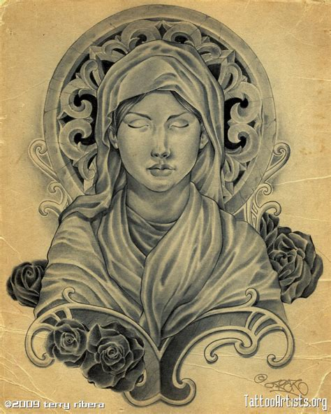 the virgin mary tattoo designs fascinating sketch drawing for christian tattoos