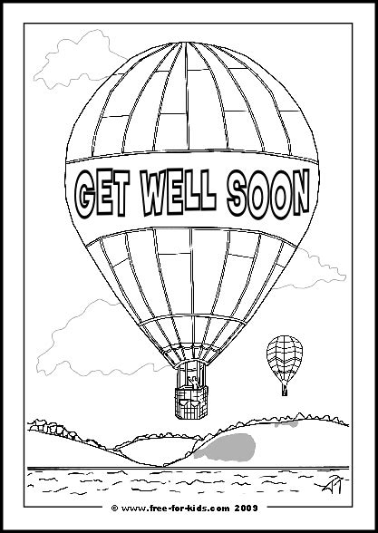 get well card coloring template printable get well soon colouring pages